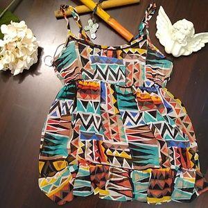 XXI multi-colored Tribal Print Camisole
